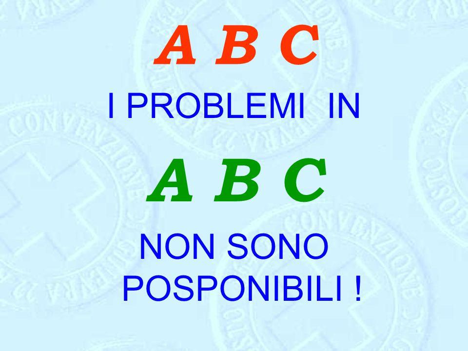 A B C I PROBLEMI IN A B C NON SONO POSPONIBILI !