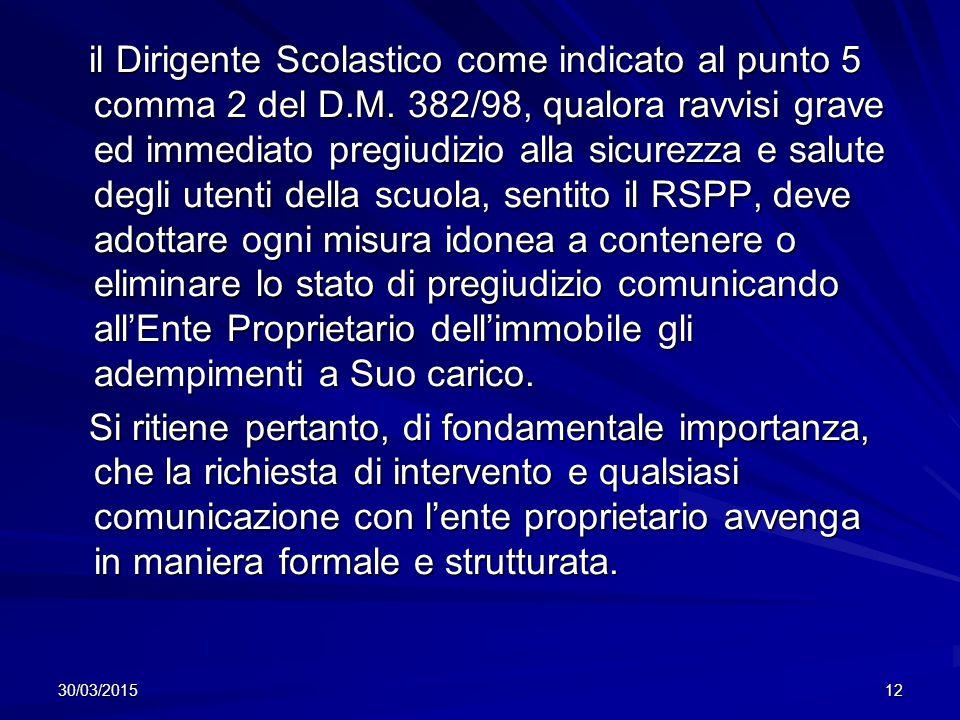 30/03/201512 il Dirigente Scolastico come indicato al punto 5 comma 2 del D.M.