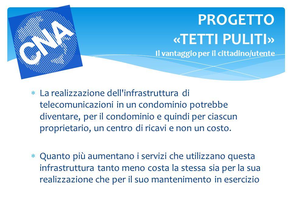  La realizzazione dell'infrastruttura di telecomunicazioni in un condominio potrebbe diventare, per il condominio e quindi per ciascun proprietario,