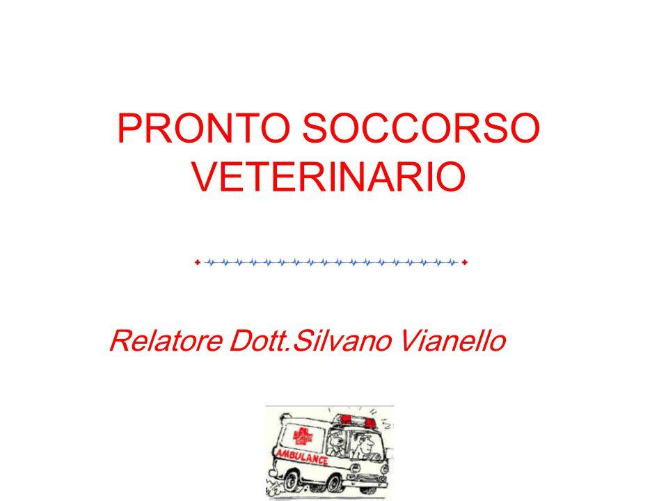 PRONTO SOCCORSO VETERINARIO Relatore Dott.Silvano Vianello
