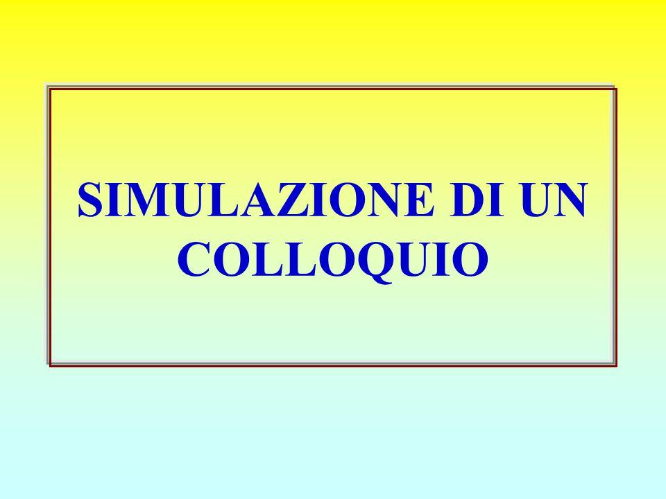 SIMULAZIONE DI UN COLLOQUIO