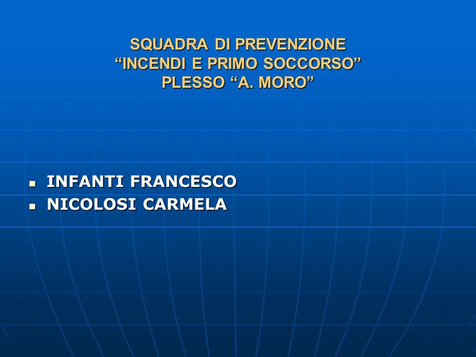 SQUADRA DI PREVENZIONE INCENDI E PRIMO SOCCORSO PLESSO A.