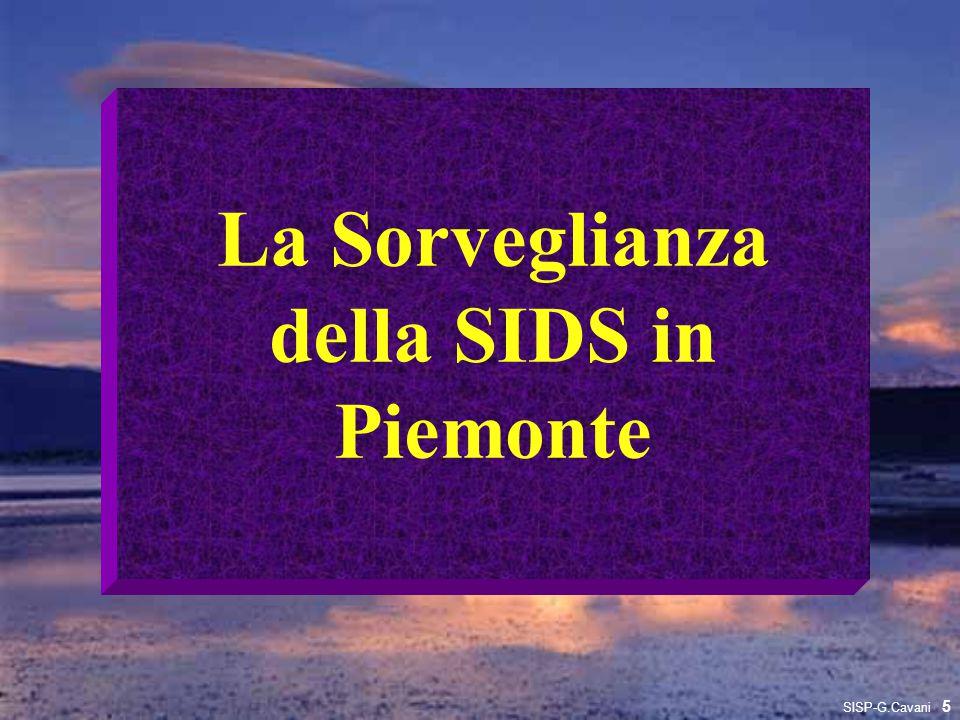 La Sorveglianza della SIDS in Piemonte 5 SISP-G.Cavani
