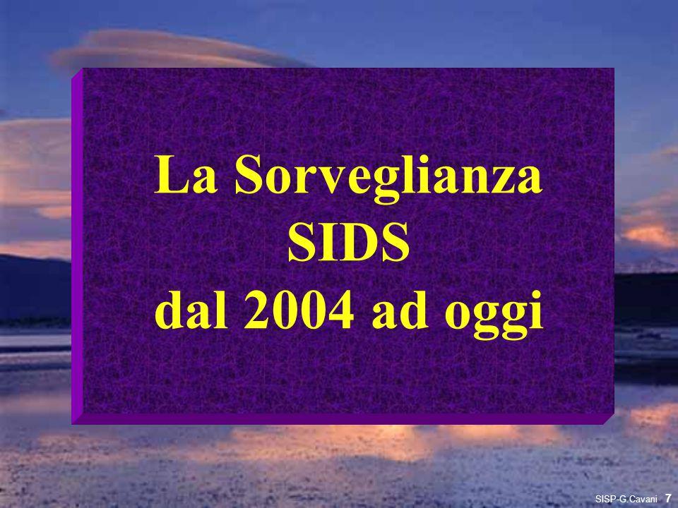 La Sorveglianza SIDS dal 2004 ad oggi 7 SISP-G.Cavani