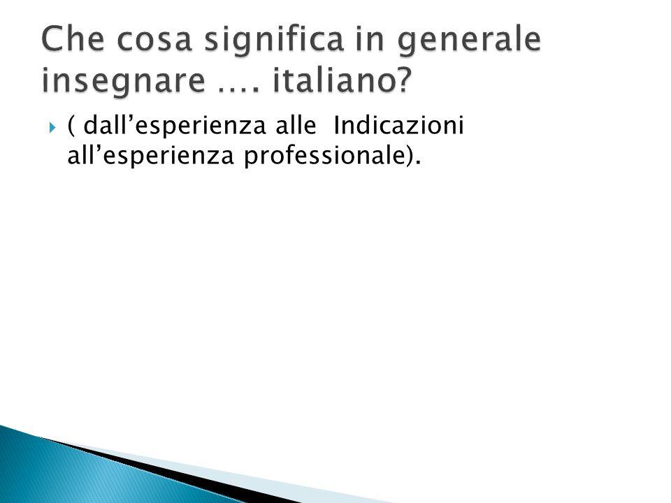  Oralità  Lettura  Scrittura  Lessico  Elementi di grammatica Italiano