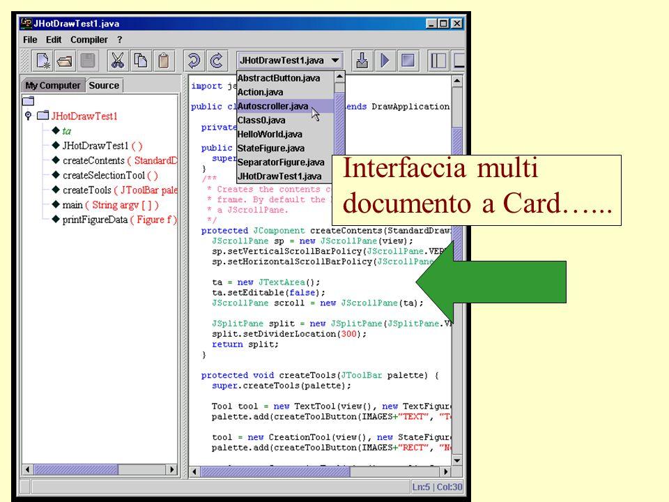 Interfaccia multi documento a Card…...