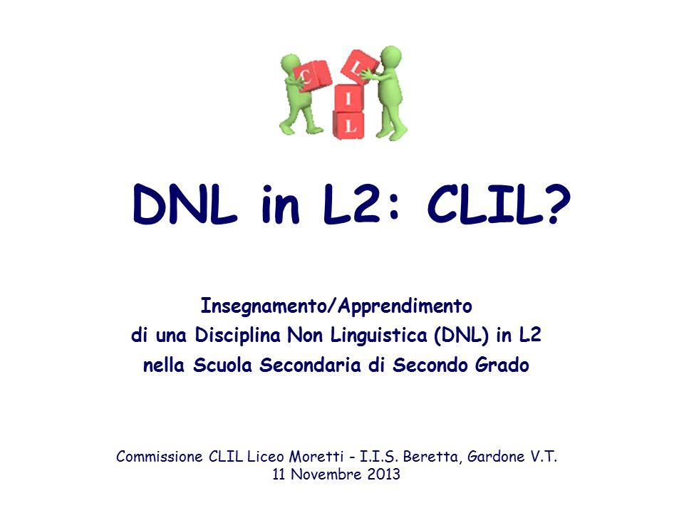 DNL in L2: CLIL.