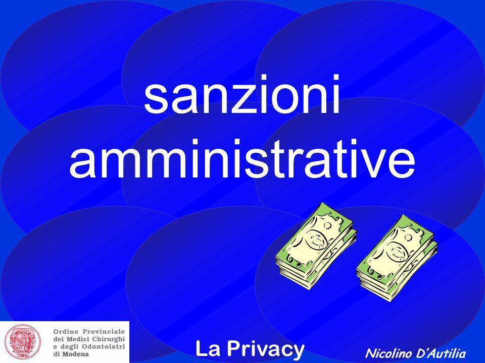 Nicolino D'Autilia La Privacy sanzioni amministrative