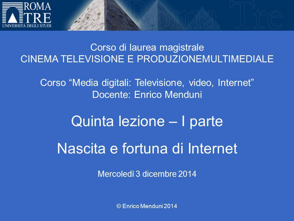 NASCITA E FORTUNA DI INTERNET