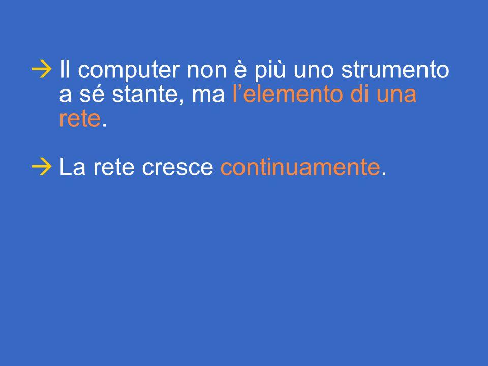  Il computer non è più uno strumento a sé stante, ma l'elemento di una rete.