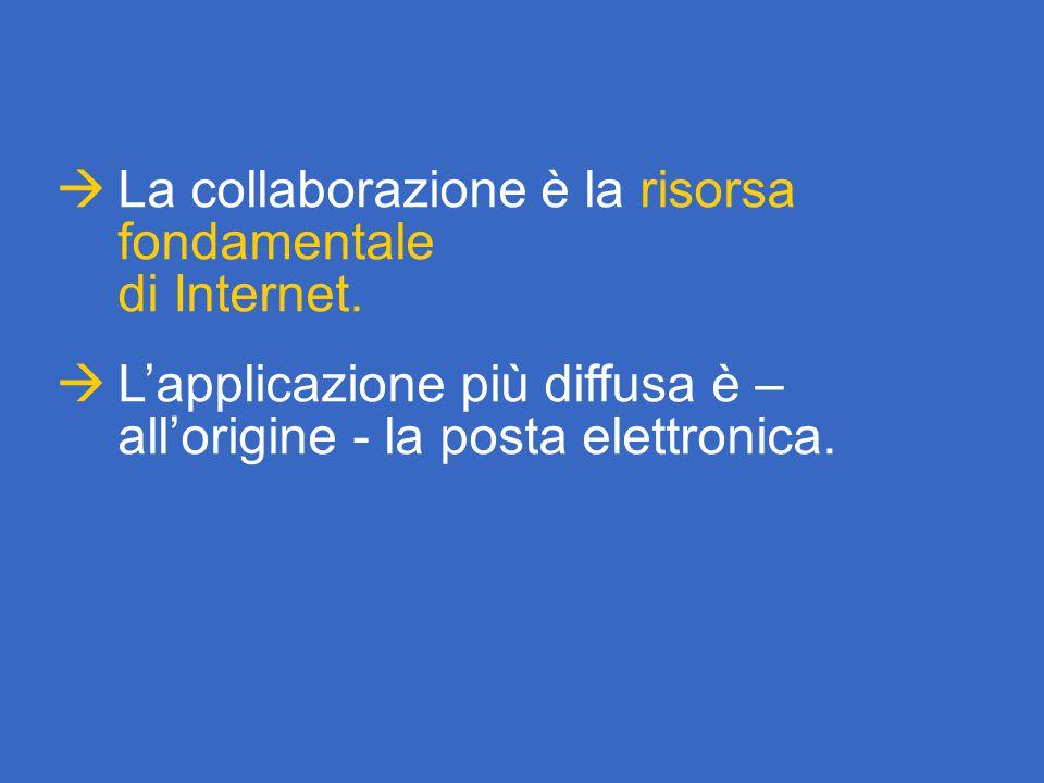  La collaborazione è la risorsa fondamentale di Internet.