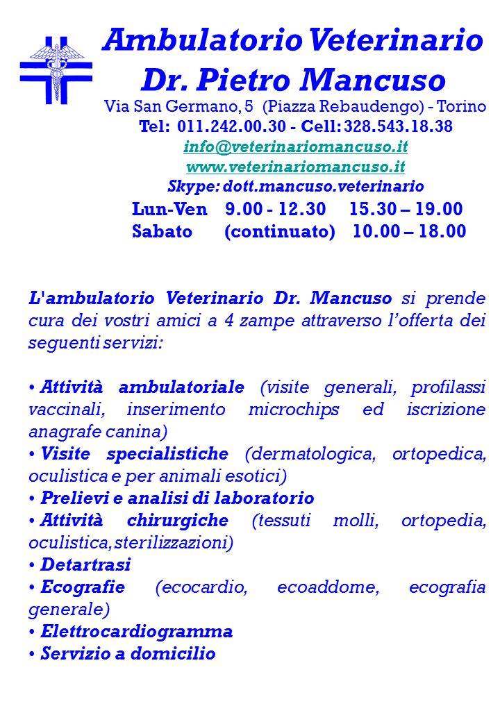 L ambulatorio Veterinario Dr.