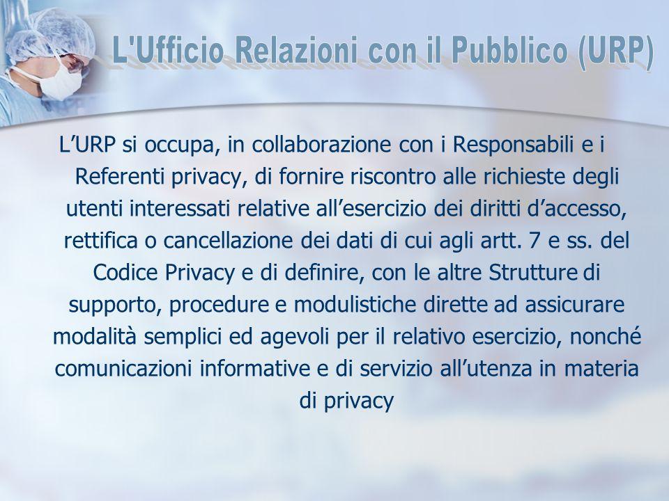 L'URP si occupa, in collaborazione con i Responsabili e i Referenti privacy, di fornire riscontro alle richieste degli utenti interessati relative all