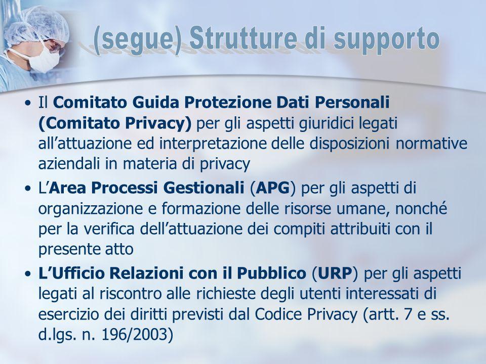 Il Comitato Guida Protezione Dati Personali (Comitato Privacy) per gli aspetti giuridici legati all'attuazione ed interpretazione delle disposizioni n