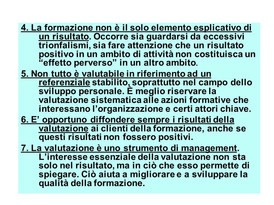 4. La formazione non è il solo elemento esplicativo di un risultato.