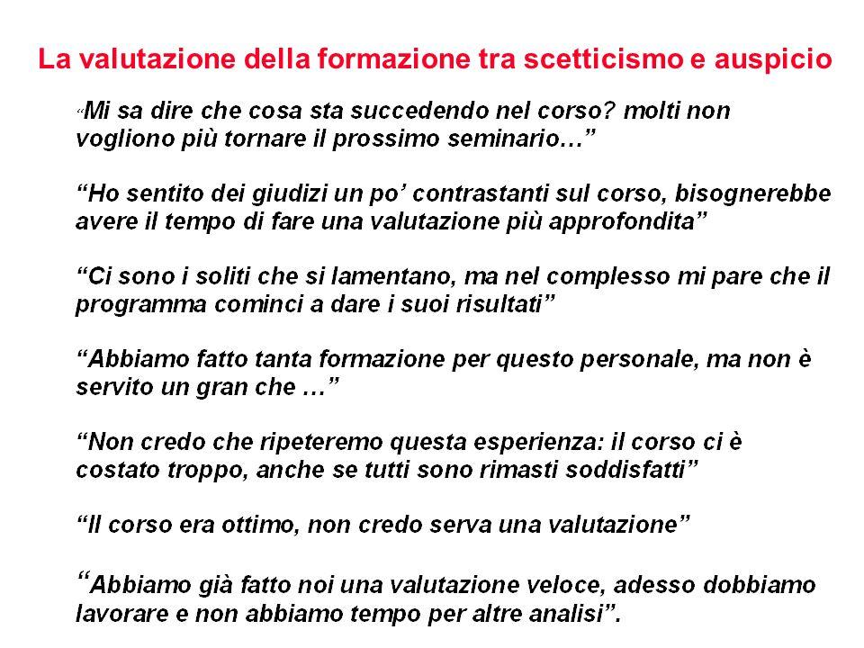 3. VALUTAZIONE E MANAGEMENT DELLA FORMAZIONE: MODELLI E PROSPETTIVE