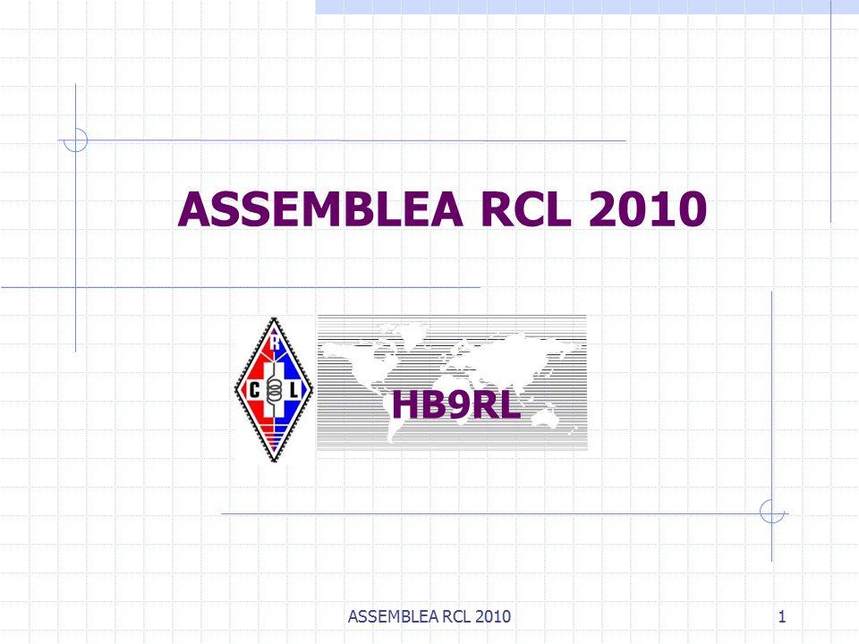 ASSEMBLEA RCL 20101 HB9RL