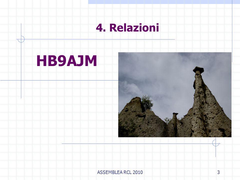 ASSEMBLEA RCL 20103 4. Relazioni HB9AJM