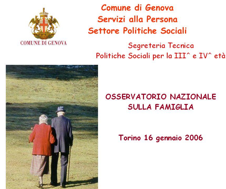 Comune di Genova Servizi alla Persona Settore Politiche Sociali