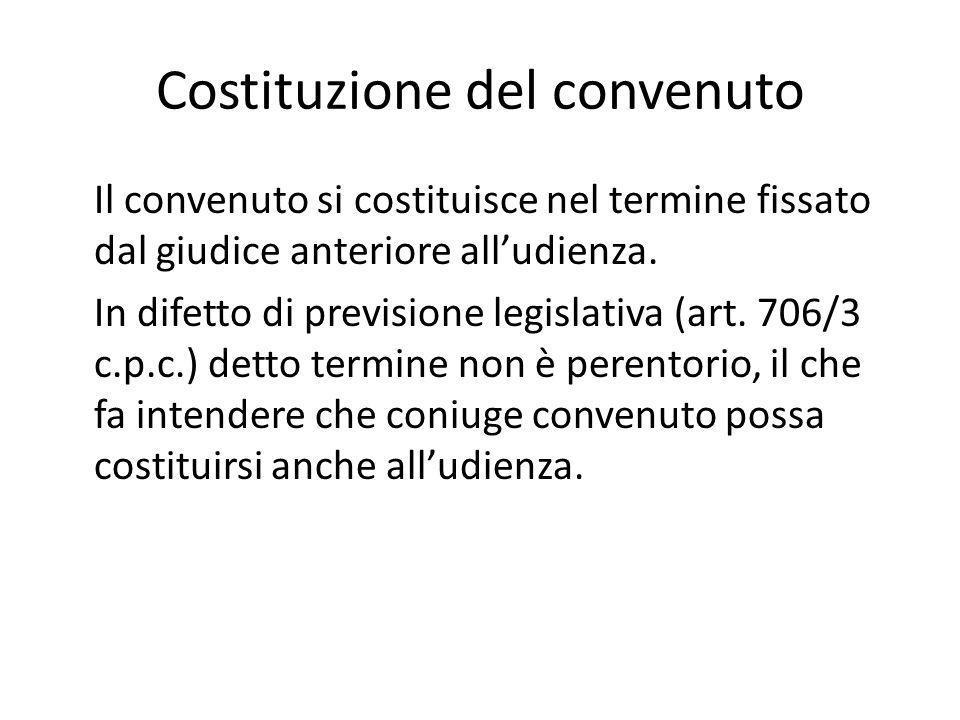 Costituzione del convenuto Il convenuto si costituisce nel termine fissato dal giudice anteriore all'udienza. In difetto di previsione legislativa (ar