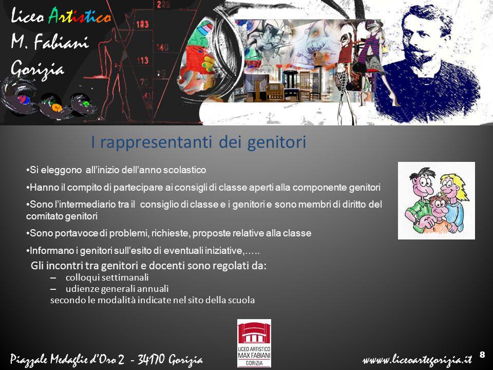 Liceo Artistico M. Fabiani Gorizia Piazzale Medaglie d'Oro 2 - 34170 Gorizia wwww.liceoartegorizia.it I rappresentanti dei genitori Gli incontri tra g