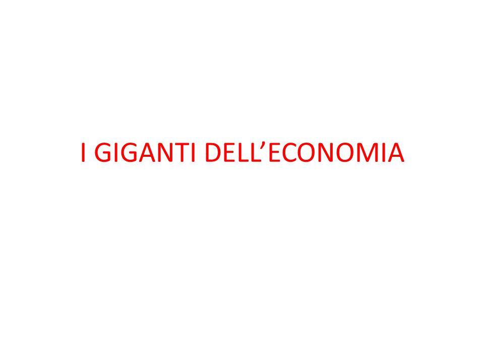 I GIGANTI DELL'ECONOMIA