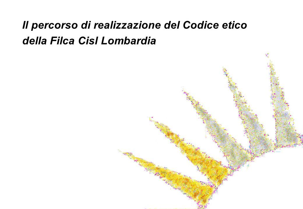 Il percorso di realizzazione del Codice etico della Filca Cisl Lombardia
