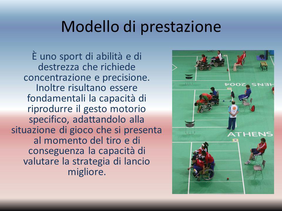 Modello di prestazione È uno sport di abilità e di destrezza che richiede concentrazione e precisione. Inoltre risultano essere fondamentali la capaci