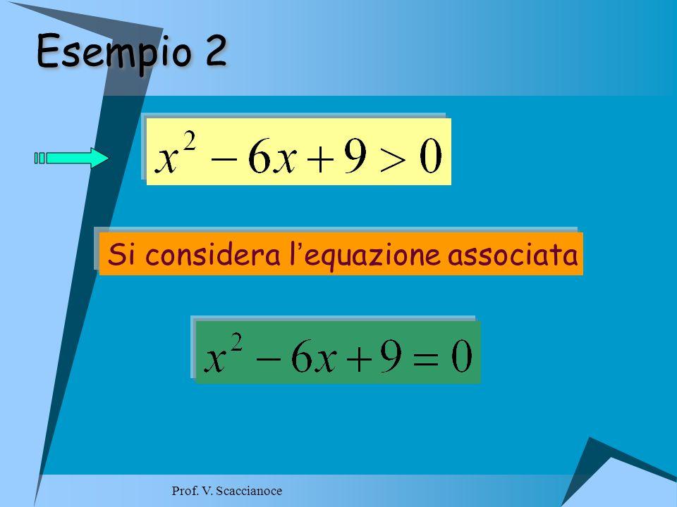 Esempio 2 Si considera l ' equazione associata Prof. V. Scaccianoce