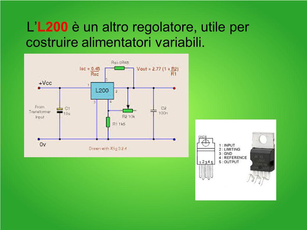 L'L200 è un altro regolatore, utile per costruire alimentatori variabili.