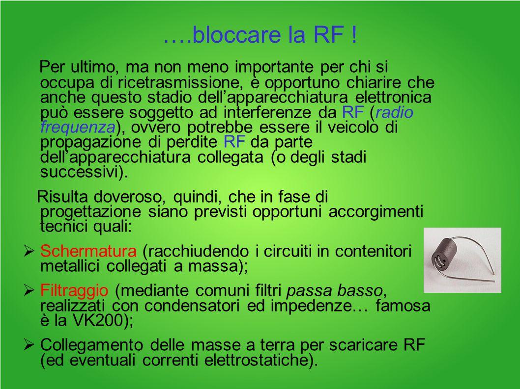 ….bloccare la RF .