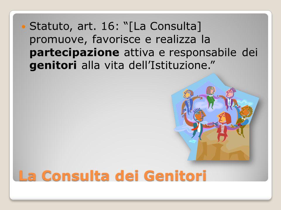La Consulta dei Genitori Statuto, art.