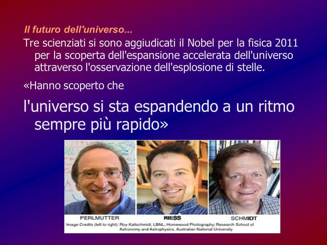 Il futuro dell'universo... Tre scienziati si sono aggiudicati il Nobel per la fisica 2011 per la scoperta dell'espansione accelerata dell'universo att