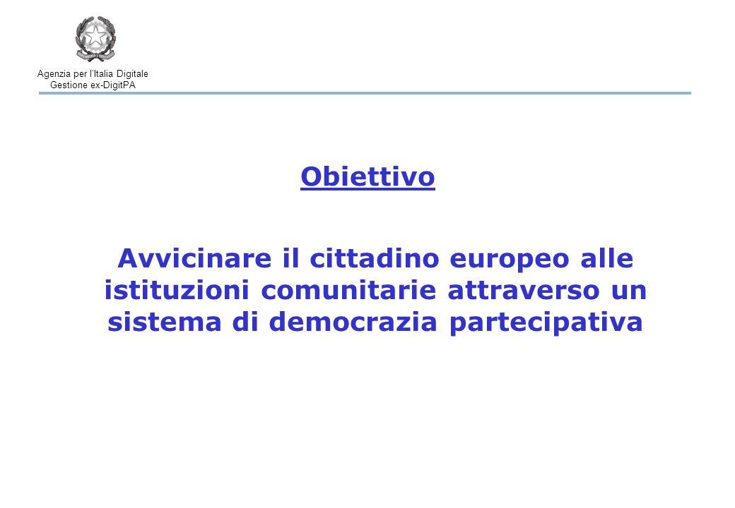 Agenzia per l'Italia Digitale Gestione ex-DigitPA L'Agenzia per l'Italia Digitale ha emanato la Deliberazione 30/2012 con le modalità per ottenere la certificazione La procedura di certificazione dei sistemi di raccolta on-line