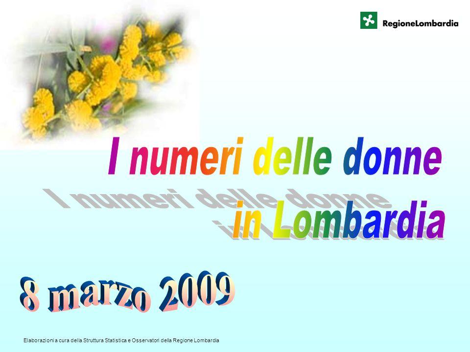 Elaborazioni a cura della Struttura Statistica e Osservatori della Regione Lombardia