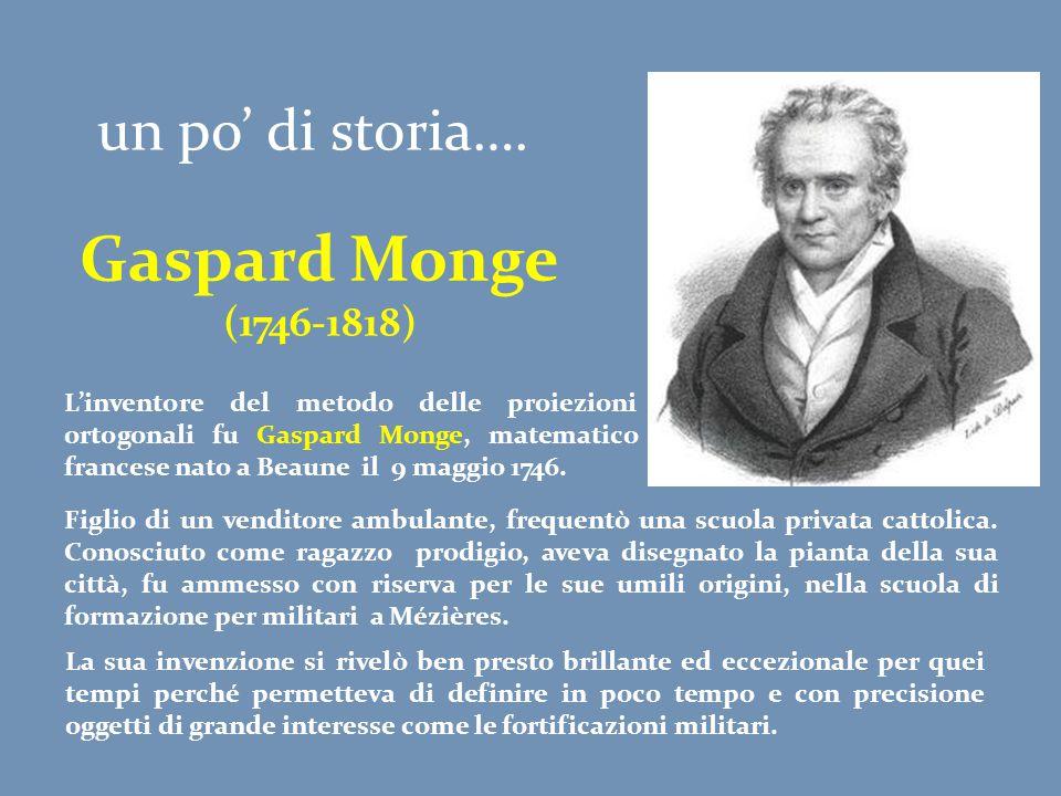 un po' di storia…. Gaspard Monge (1746-1818) L'inventore del metodo delle proiezioni ortogonali fu Gaspard Monge, matematico francese nato a Beaune il
