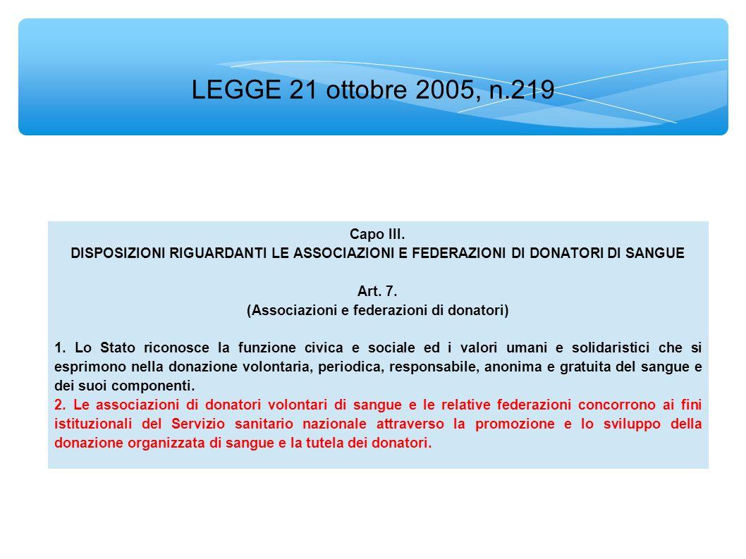 LEGGE 21 ottobre 2005, n.219 Capo III.