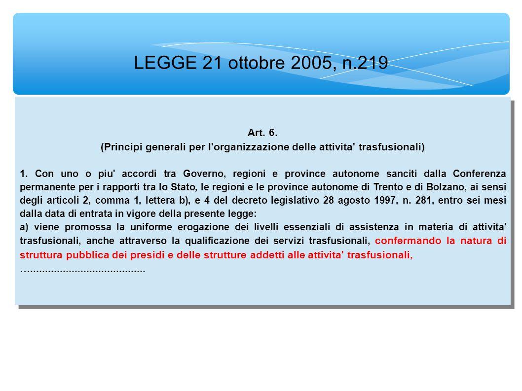 LEGGE 21 ottobre 2005, n.219 Art. 6.