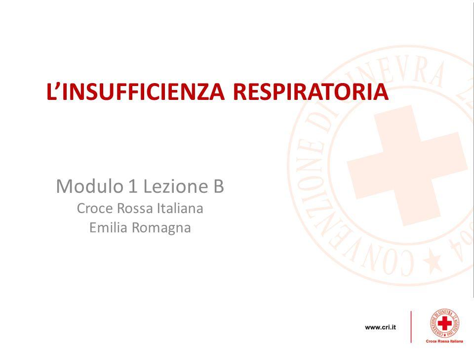 Modulo 1 Lezione B Croce Rossa Italiana Emilia Romagna L'INSUFFICIENZA RESPIRATORIA