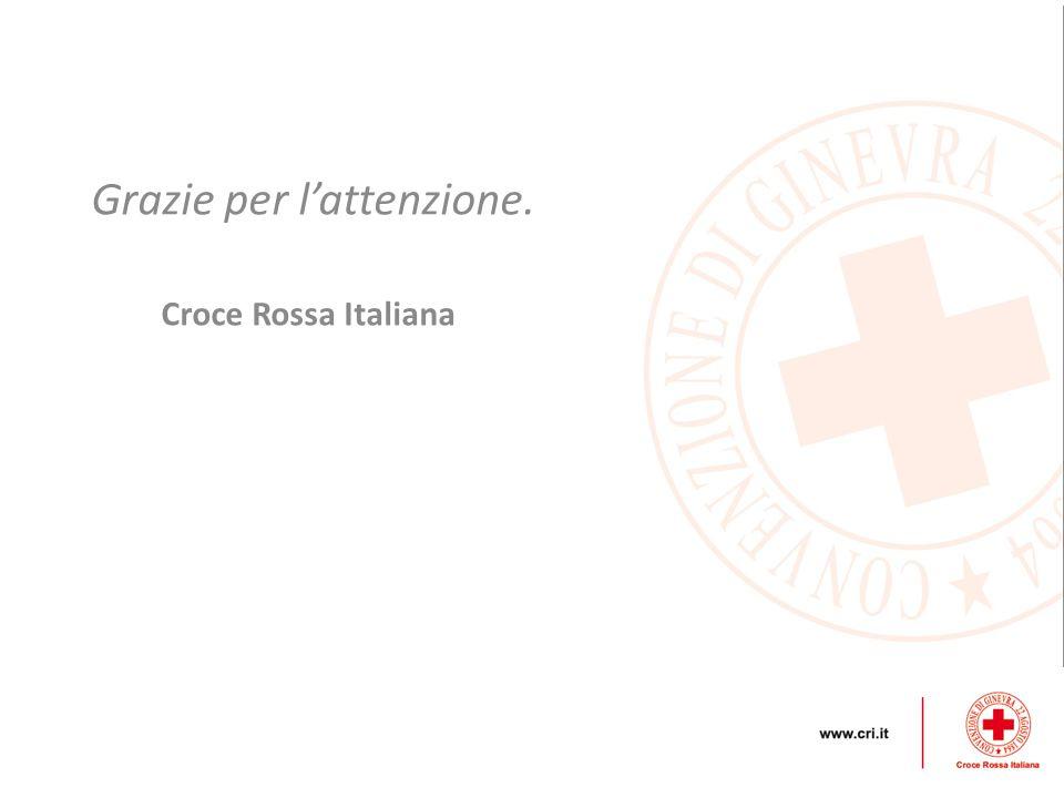 Grazie per l'attenzione. Croce Rossa Italiana