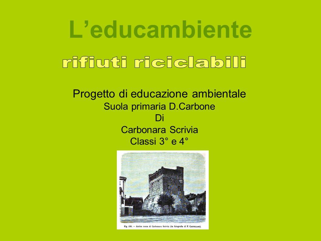 L'educambiente Progetto di educazione ambientale Suola primaria D.Carbone Di Carbonara Scrivia Classi 3° e 4°