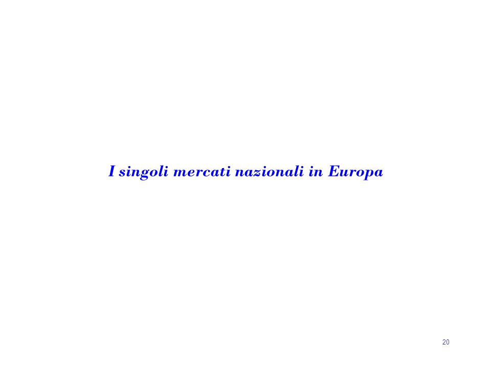 20 I singoli mercati nazionali in Europa