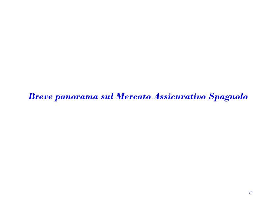 74 Breve panorama sul Mercato Assicurativo Spagnolo