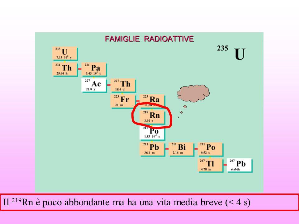 Equazioni che regolano l'andmento dei membri di una serie radioattova una serie è in equilibrio se Che equivale a dire Se c'è equilibrio radioattivo, le attività sono uguali tra loro.