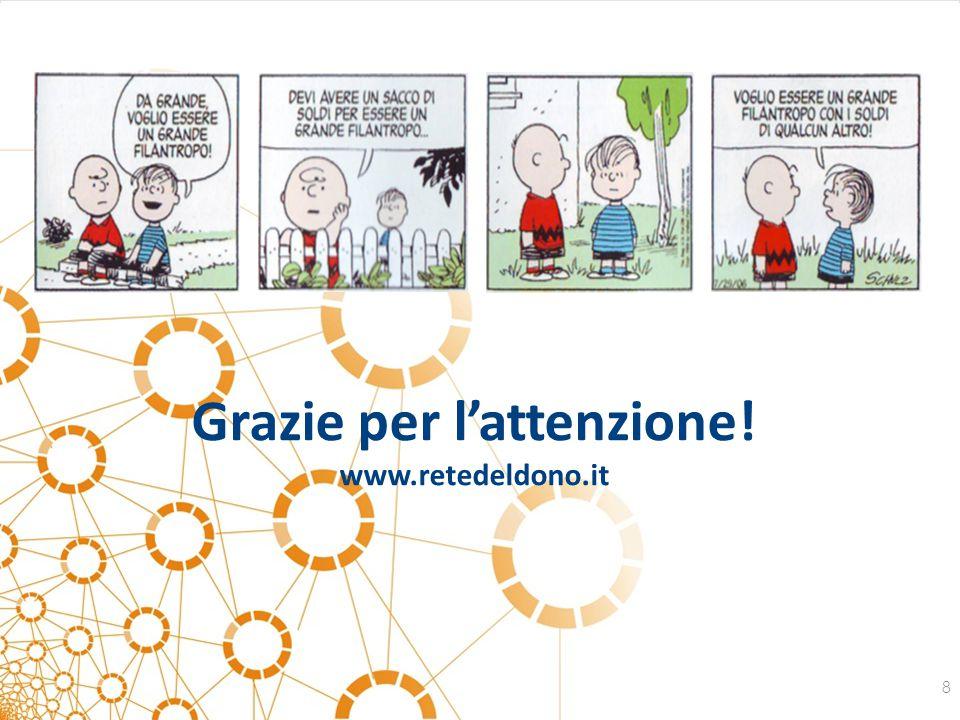 Grazie per l'attenzione! www.retedeldono.it 8