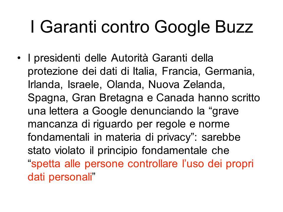 I presidenti delle Autorità Garanti della protezione dei dati di Italia, Francia, Germania, Irlanda, Israele, Olanda, Nuova Zelanda, Spagna, Gran Bret