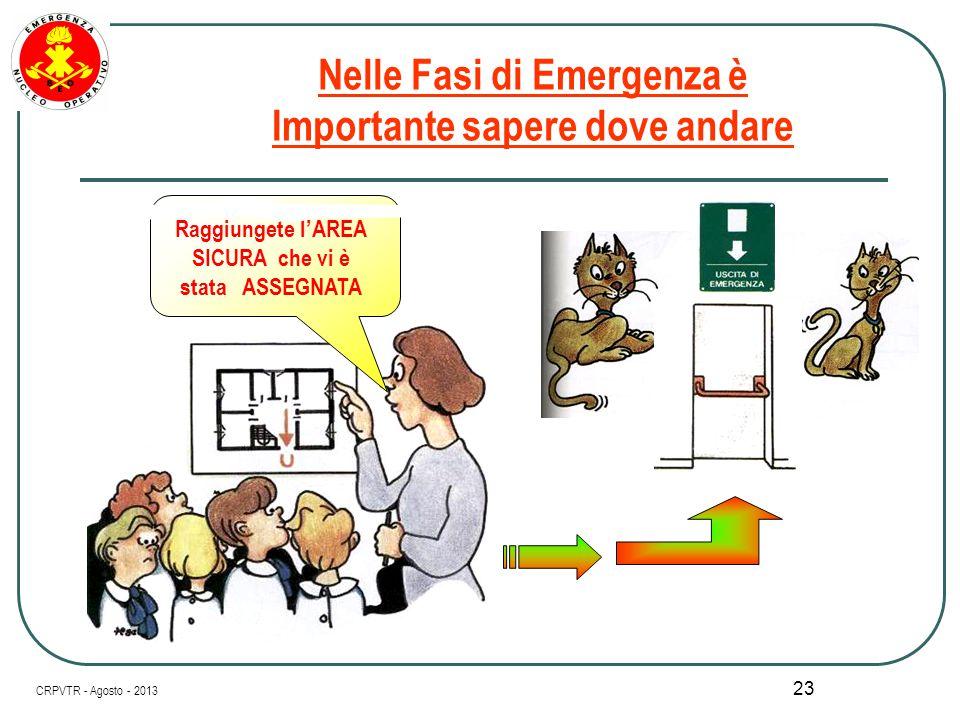 22 Nelle Fasi di Emergenza è COSA MOLTO UTILE CRPVTR - Agosto - 2013