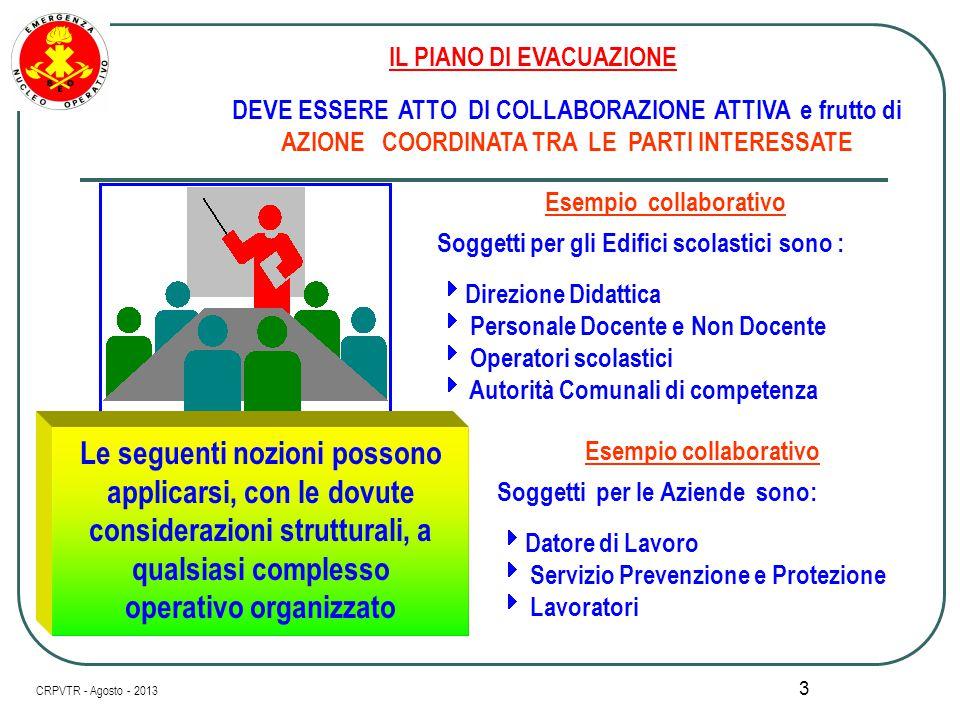2 I l Piano di Evacuazione inserito I l Piano di Evacuazione inserito nel PIANO PER LA SICUREZZA Relazione Periodica di Valutazione del Piano stesso V