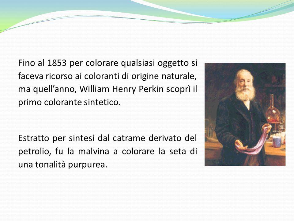Fino al 1853 per colorare qualsiasi oggetto si faceva ricorso ai coloranti di origine naturale, ma quell'anno, William Henry Perkin scoprì il primo co