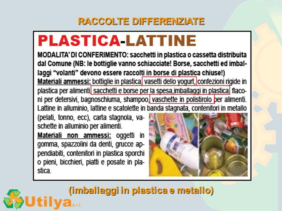 RACCOLTE DIFFERENZIATE (imballaggi in plastica e metallo)